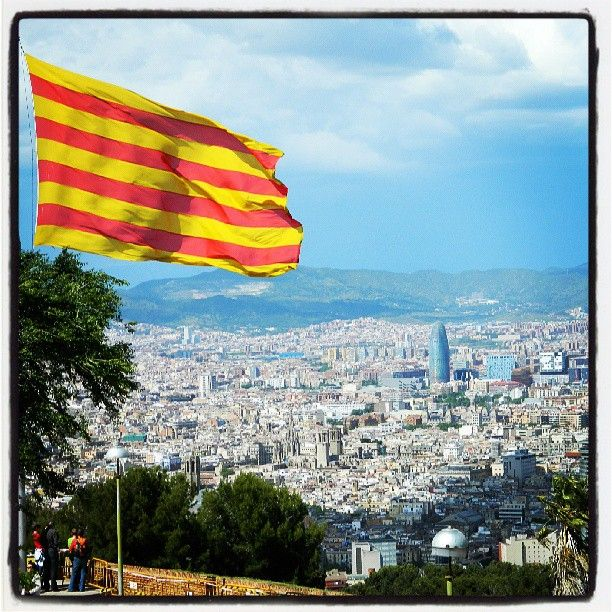 Catalonia's flag. 11 of september, Catalonia's Day. We want the world accept us as a country.