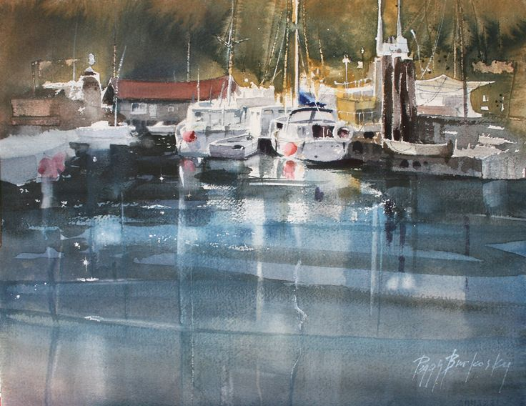Plan your watercolor painting study with limited values of light, mid-tone & dark; see the largest shapes first; notice the direction and strength of light.