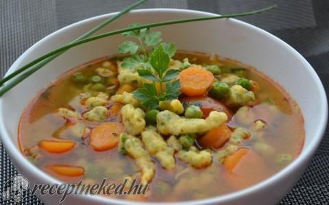 Tavaszi zöldségleves recept fotóval