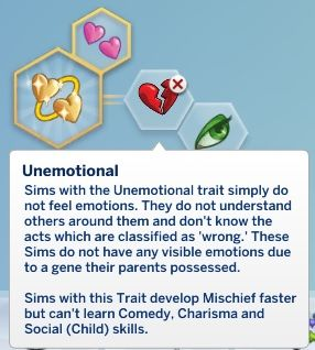 Mod The Sims: Unemotional Trait by Tallydom • Sims 4 Downloads