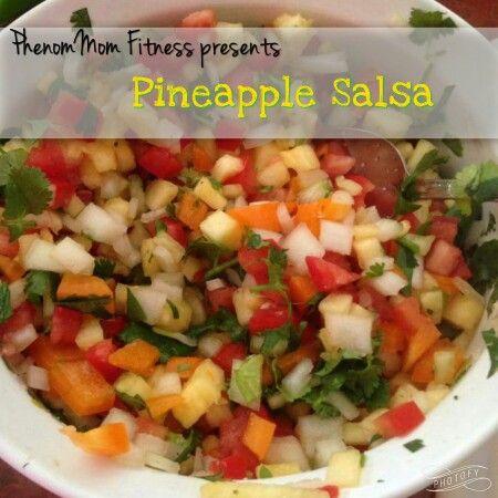 Pineapple Salsa 2 cups Pineapple 4 Roma Tomatoes 1/2 orange bell pepper 1/2 onion (use your favorite) 1/2 jalapeno Cilantro, salt, garlic powder to taste0