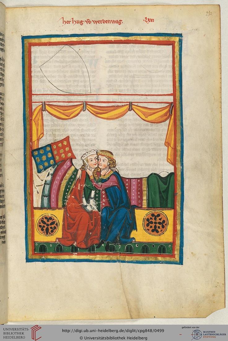 Das schwäbische Geschlecht, aus dem Hug (oder Hugo) von Werbenwag (bezeugt 1258-1279) stammte, ist westlich von Sigmaringen beheimatet. Der um die Mitte des 13. Jahrhunderts dichtende Autor trat vermutlich im Alter in das Kloster Salem ein, wo er 1292 nochmals eine Urkunde bezeugt