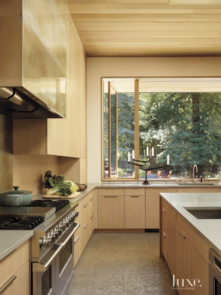 Modern White Oak Kitchen