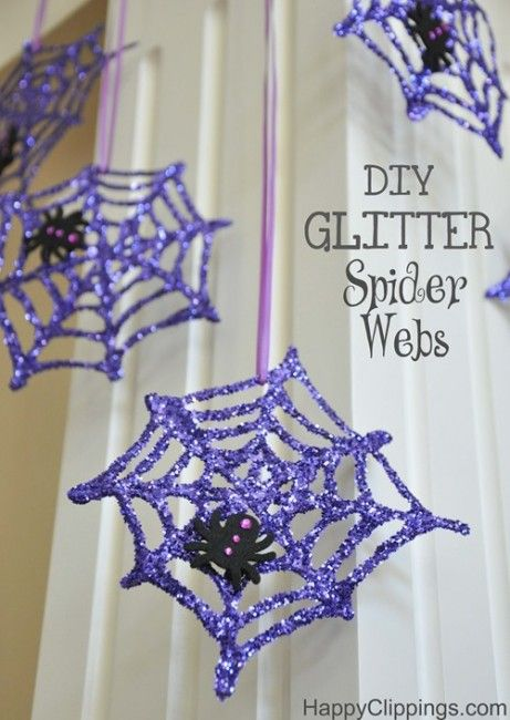 DIY Glitter Spiderwebs I Heart Nap Time | I Heart Nap Time - Easy recipes, DIY crafts, Homemaking