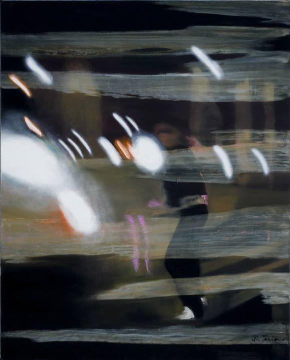 Jongleur de lumière / 100 x 80 cm / oil on canvas