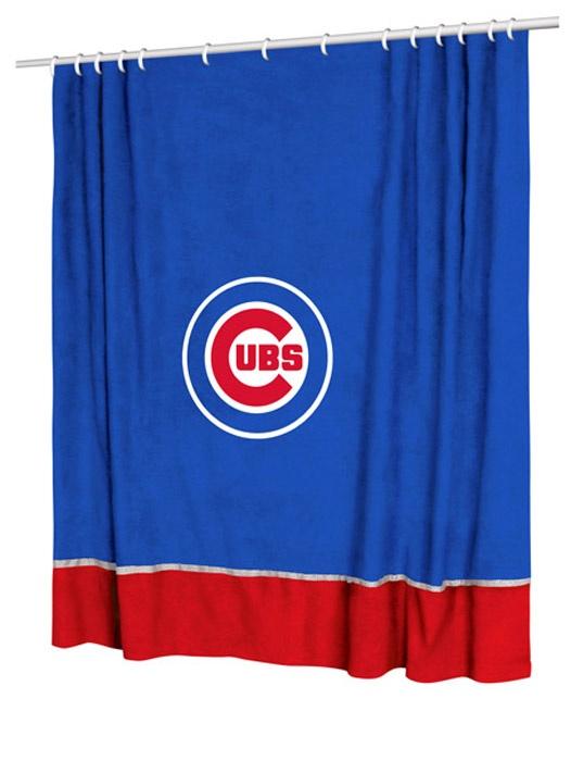 mlb chicago cubs mvp shower curtain baseball bathroom accessories