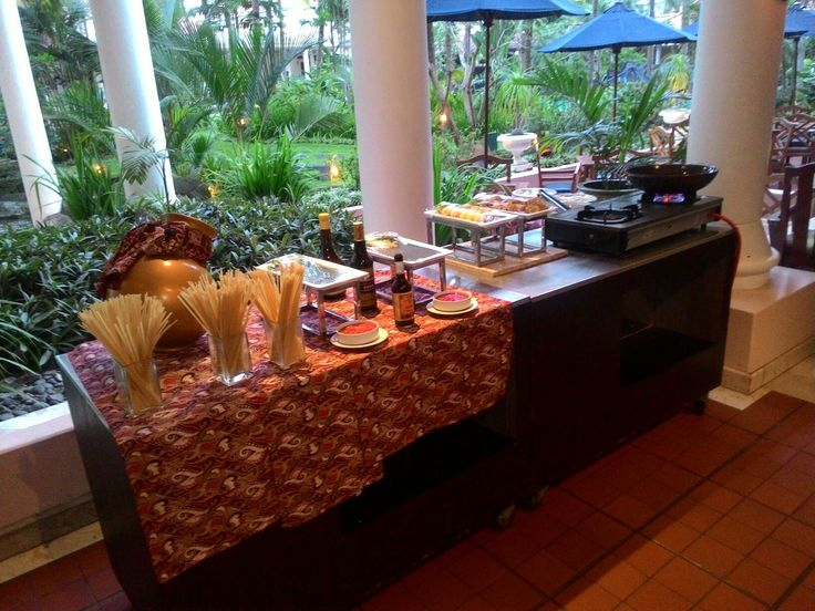 Setup for live cooking @ El Patio restaurant on Melia Purosani Hotel Yogyakarta