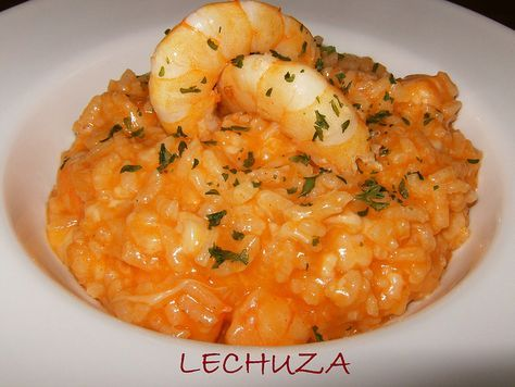 Risotto de langostinos http://www.lacocinadelechuza.com/2013/06/arroz-cremoso-risotto-de-langostinos.html