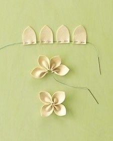 felt flower - try 5 petals