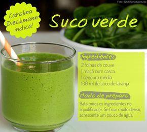 Suco verde da Carolina Dieckmann! Clique na imagem e veja outros sucos das famosas! #carnaval #detox