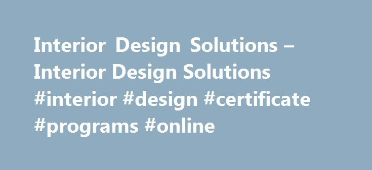 Interior Designing Online Courses Best Decorating Inspiration