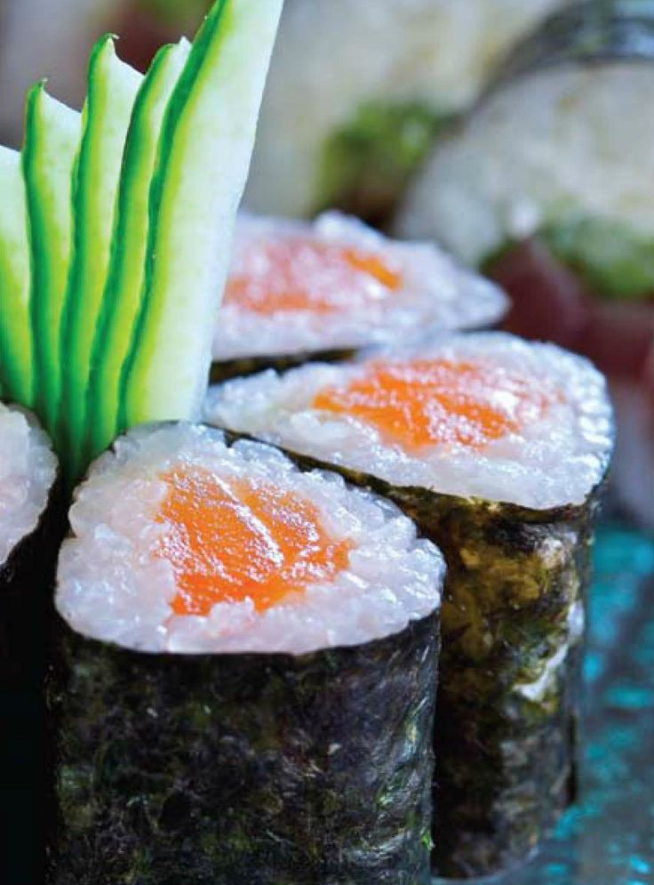 Sushi with Fish and Vegetables