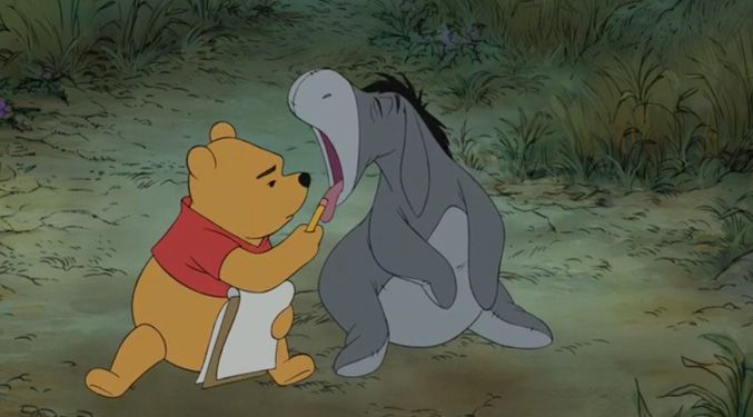 Always help a friend in need. Help yourself to their honey, but also help your friends.
