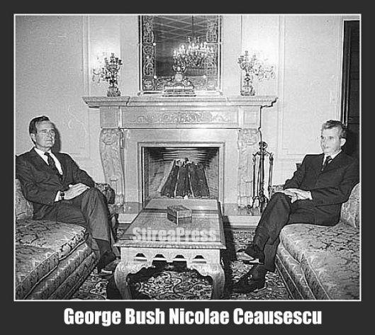 Nicolae Ceausescu George Bush