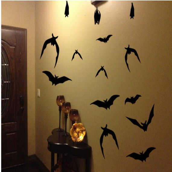 21 halloween decorations bats flying bats by vinylmessages on etsy 999