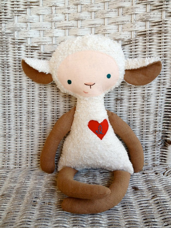 Custom Personalized Animal with Heart and Initial by OhJustDandy, $35.00