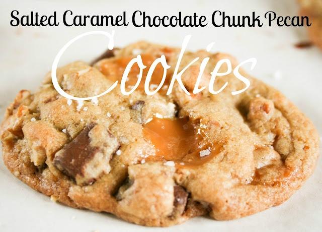 Salted Caramel Chocolate Chunk Pecan CookiesDesserts, Tasty Recipe, Salts Caramel, Caramel Chocolates, Pecans Cookies, Chocolates Chunk, Chunk Cookies, Chunk Pecans, Salted Caramels