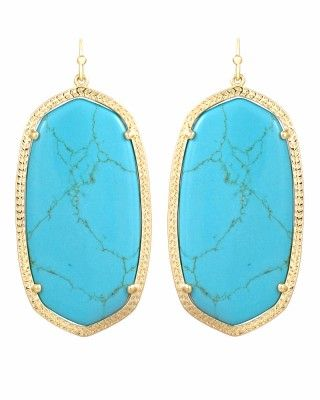 I have these...love them!! Kendra Scott Danielle Earrings in Turquoise #KendraScott