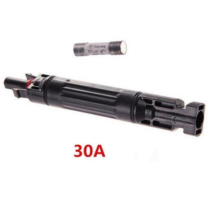 ชี้นำไอเท็มใหม่<SP>30A MC4 In-line Fuse Connector 1000 VDC Male to Fem PV Solar Fuse Holder - intl++30A MC4 In-line Fuse Connector 1000 VDC Male to Fem PV Solar Fuse Holder - intl Specification of Connecting Line: 1.5~6mm2 Ambient temperature range : -40 ~ +85 ℃ Safety Level:class II Insertion force ...++