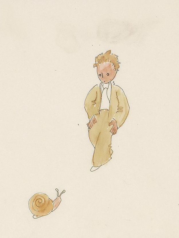 """See Original Artwork For """"The Little Prince"""" In All Its Ragged Glory"""
