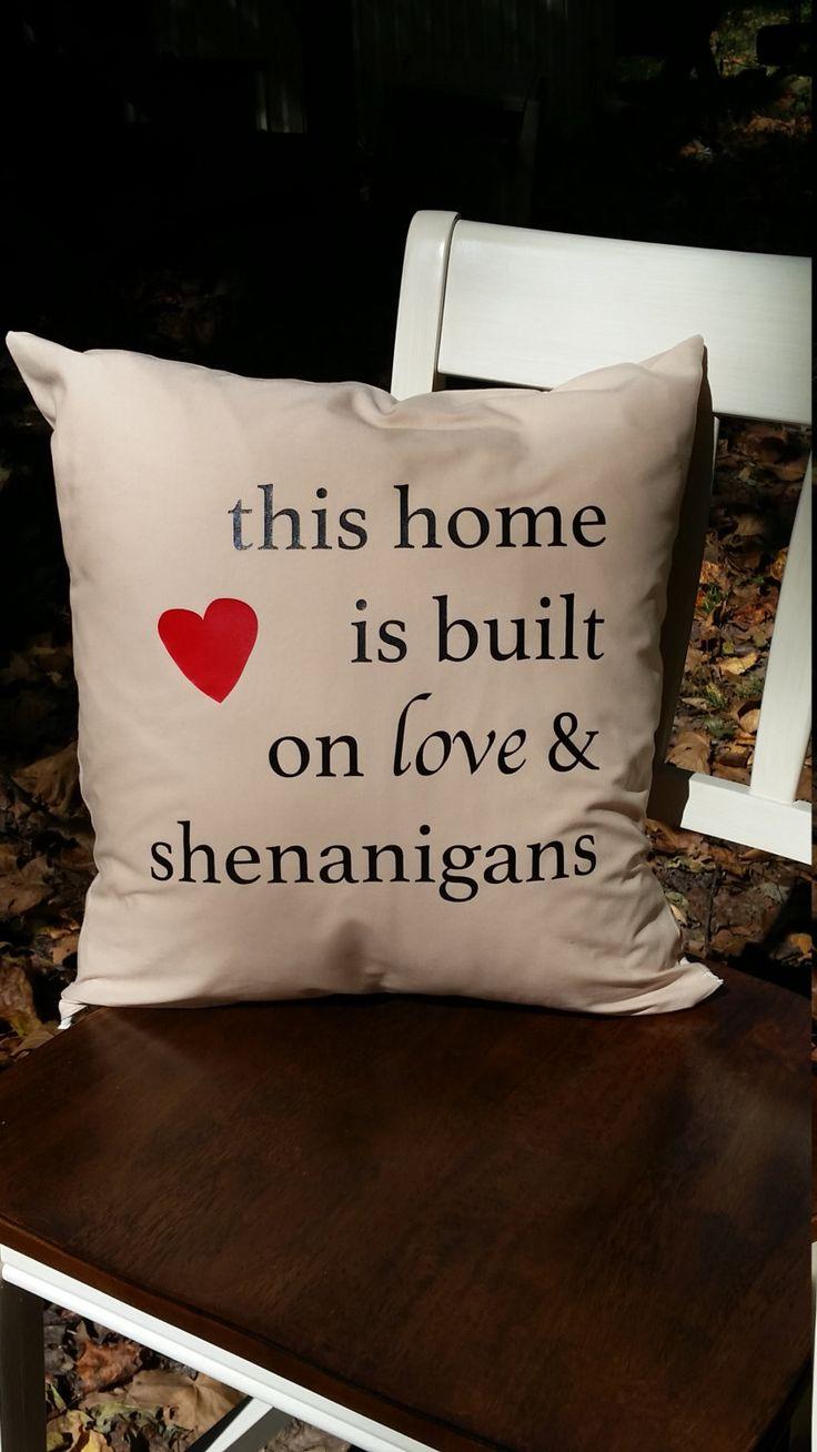 Vinyl Heat Transfer Pillow/ Quote pillow/ Word pillow/ Housewarming Gift/ Wedding gift/ Keepsake pillow/ Accent pillow/ Throw pillow by ClassyandCluttered on Etsy