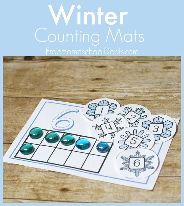 FREE WINTER COUNTING MATS (Instant Download)