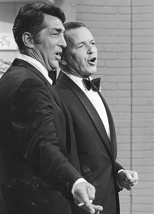 Frank Sinatra and Dean Martin performing on The Dean Martin Show, 1967
