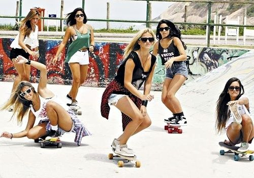 girls on skateboards ☮ re-pinned by http://www.wfpblogs.com/author/southfloridah2o/