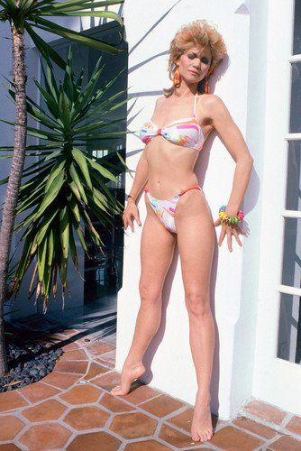 Markie Post Bikini Full Length Stunner Col 24X36 Poster  Unique 24x36 inch poster on archival paper.  Only from Silver Screen.  Will look stunning in your home or office