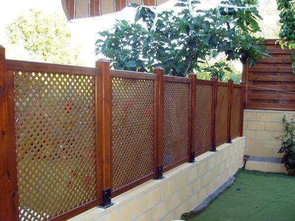 M s de 25 ideas incre bles sobre vallas de madera en for Celosia de madera para jardin