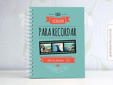 Photobook Viagem para recordar - álbum, scrapbook, viagem, fotos, personalizado, criativo, presente