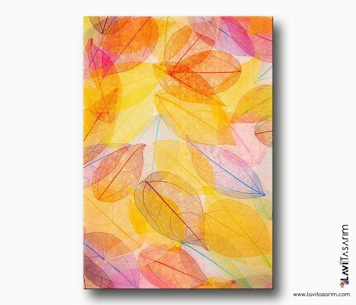Yaprak Desenli Kanvas Tablo Bitki Tablolari Lavi Tasarim Tuval Resimleri Tuval Sanati Tablolar