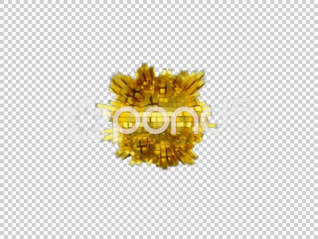 Gold Sphere Beat 480p with alpha - Stock Footage | by ratata