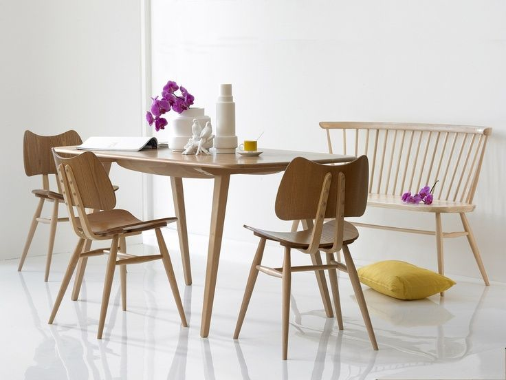 Ercol Dining Table With Loveseat
