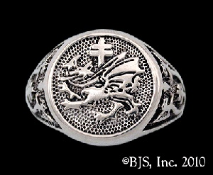 $86.00 Sterling Silver Vlad Dracula's Order of the Dragon Signet Ring