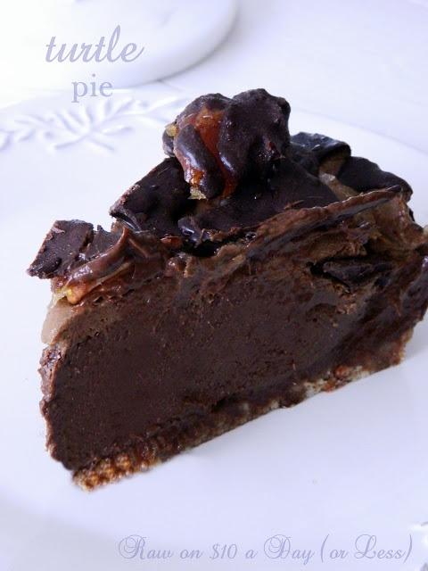 Raw Dessert Turtle Pie Recipe
