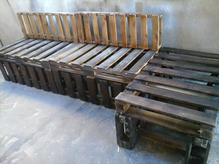 Pallet Sectional Sofa Set | 101 Pallets