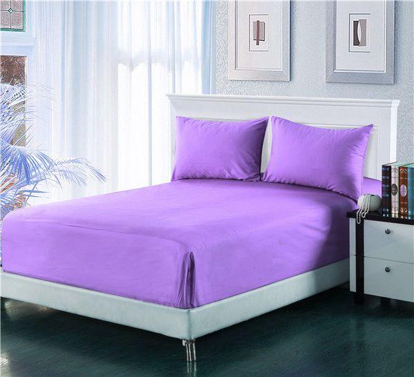 Tache 2-3 Piece Lavender Dreams Light Purple Bed Sheet Set (Fitted Sheet)