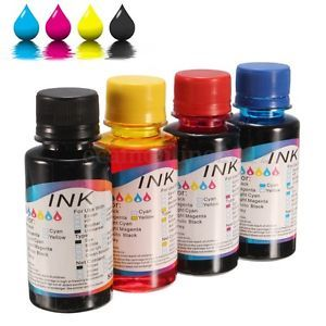 a 1 4pcs 100ml universal tinta de recarga ink para hp canon impresora printer