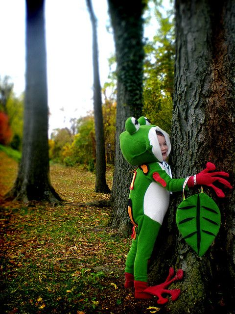 in forest by flarbort, via Flickr tree frog costume