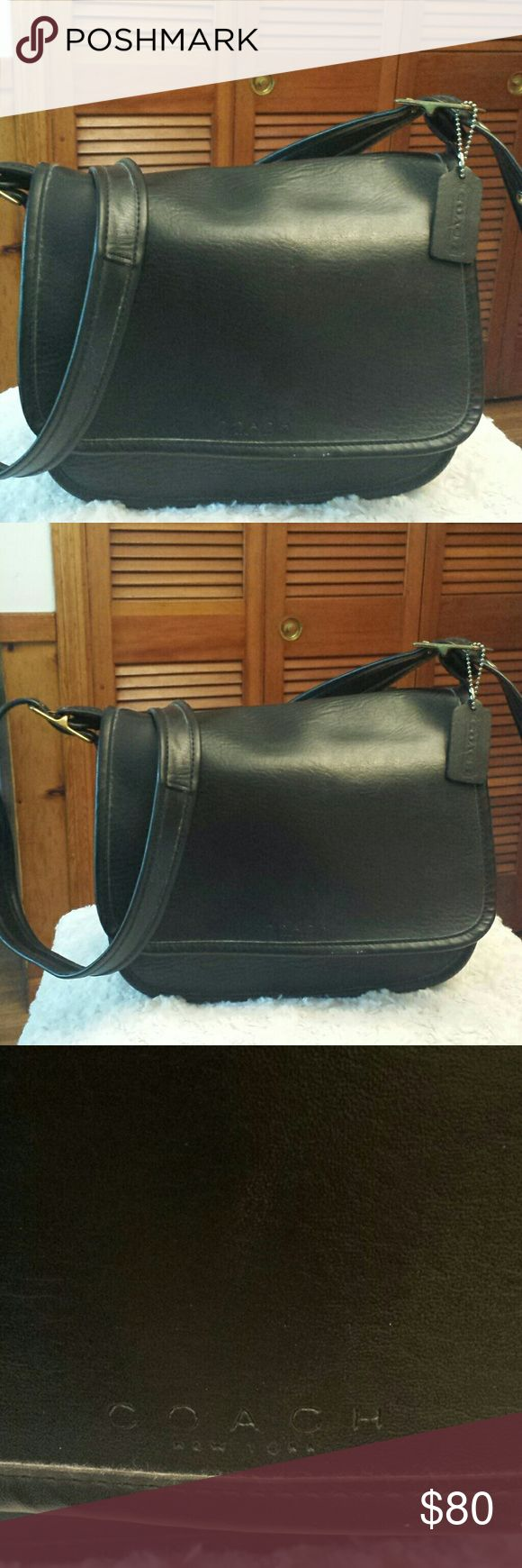 Coach Legacy Black Leather Crossbody Bag Coach Legacy Black Leather Crossbody Bag, Creed 9956,Slip pocket outside, Slip pocket inside, Front pocket, Zipper closure, Good condition Coach  Bags Crossbody Bags