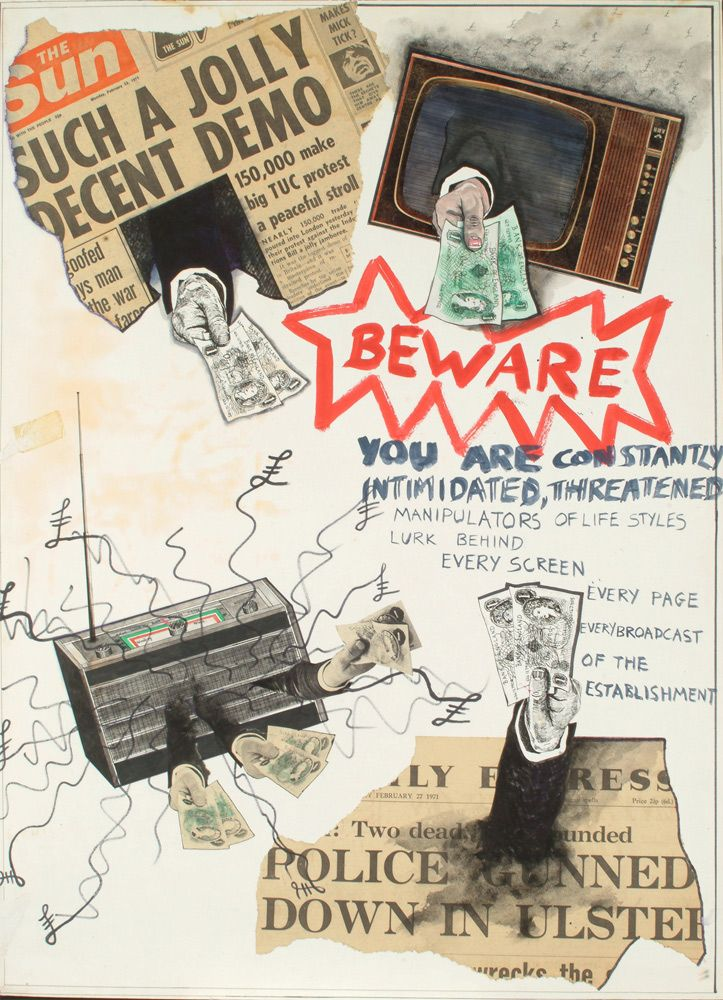 Jamie Reid • Beware – You Are Constantly Intimidated, Threatened (1971)