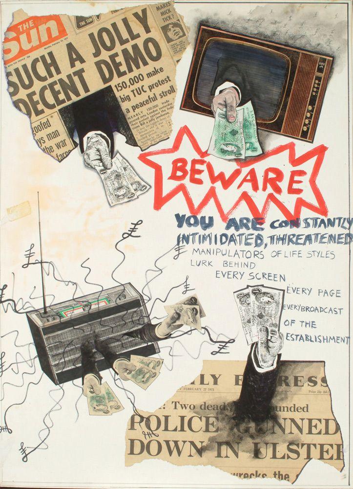 Jamie Reid • Beware – You Are Constantly Intimidated, Threatened (1971)