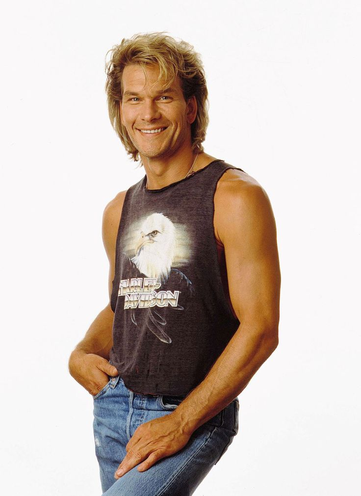 Patrick Swayze, male actor, dancer, artist, r.i.p., hands, Dirty Dancing, beautiful smile, North  South, portrait, photo