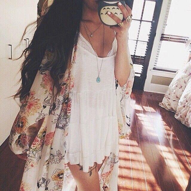 <3 baby doll dress and kimono