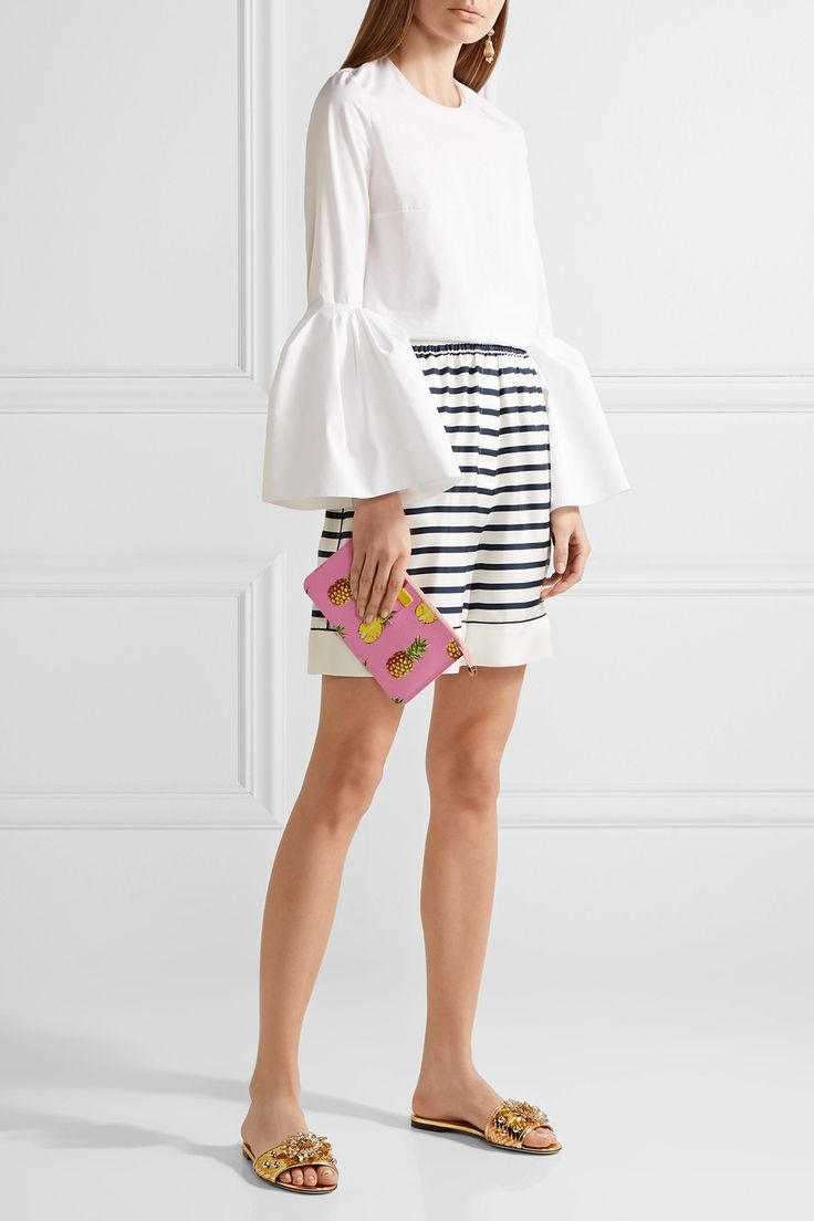 Dolce & Gabbana | Printed textured-leather pouch | NET-A-PORTER.COM