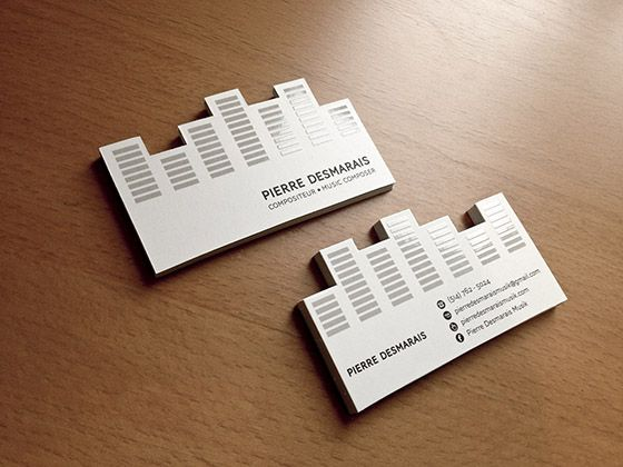 compositeur music composer marketing business card business card equilizer creative