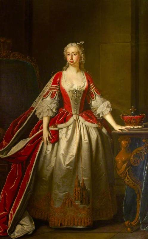 Augusta of Saxe-Gotha (1719–1772), Princess of Wales, 1750, by Thomas Hudson