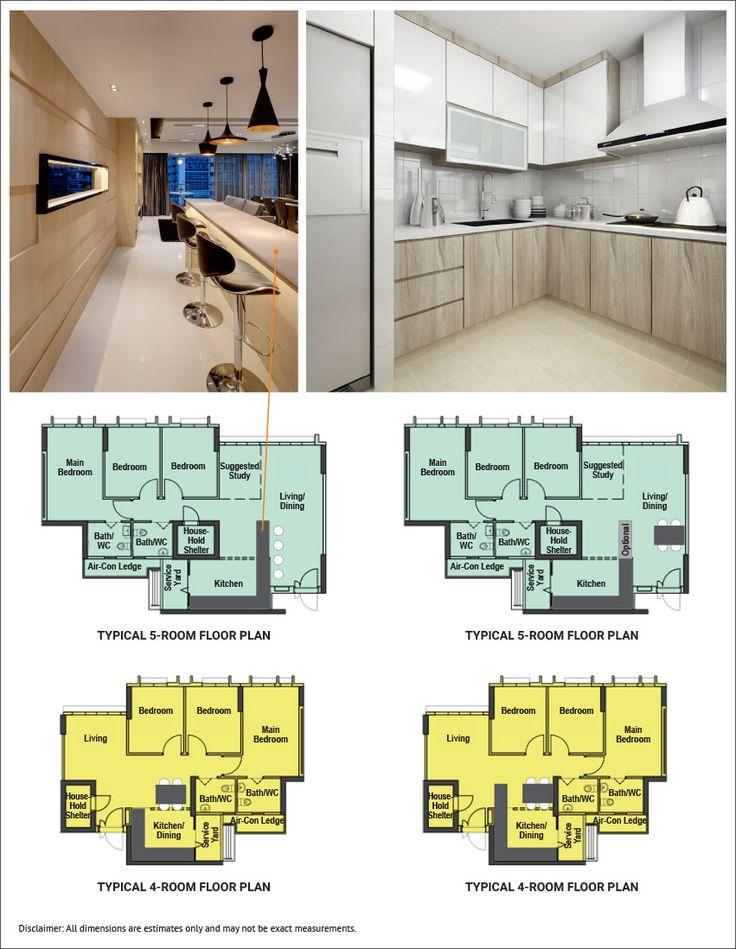 15 Brilliant Layout Ideas for Bidadari | L shaped kitchen ...