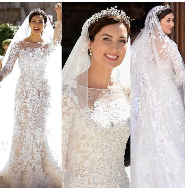 Princess Lace Wedding Dress Elie Saab
